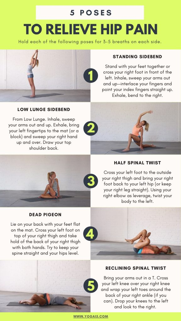 5 Yoga Stretches For Hip Pain